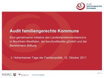Was beinhaltet das Audit familiengerechte Kommune?