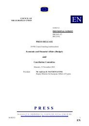 PRESS RELEASE Economic and Financial Affairs (Budget ... - Europa