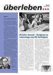 60 Jahre danach - Bundesverband Information und Beratung für NS ...