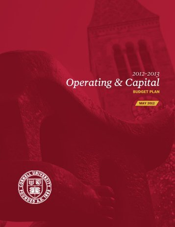 2012-13 Operating & Capital Budget Plan (pdf - Division of Planning ...