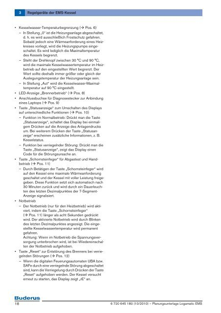 3 Regelgeräte der EMS-Kessel - Buderus