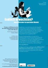 Programmflyer zur Vortragsreihe (PDF) - Internationale ...