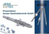Presentation Jenaer Gewindetechnik GmbH - Bachofen AG