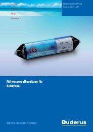 Füllwasseraufbereitung für Heizkessel - Buderus Heiztechnik AG