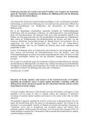 Erklärung Lehrender der Goethe-Universität ... - Fachschaft 04