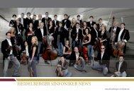 Sinfoniker News 2011 - Heidelberger Sinfoniker