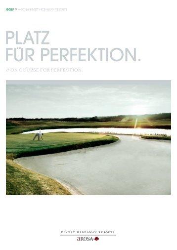 Golf Broschüre - Resort A-ROSA