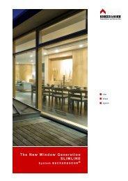 The New Window Generation SLIMLINE - Becker & Sohn