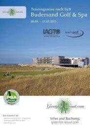 Trainingsreise Sylt 2012 - Budersand Golg- & Spa-Hotel 5 Sterne