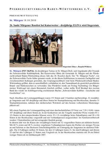 Pressemitteilung Rossfest 2010