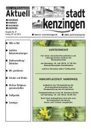 Gottesdienst Kirchplatzfest Nordweil - Kenzingen
