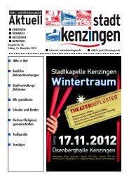Einladung - Kenzingen