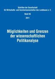 Möglichkeiten und Grenzen der wissenschaftlichen Politikanalyse
