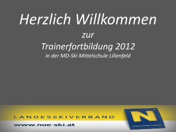 Praxisworkshop – Alpin 2012/13 - Teil 1