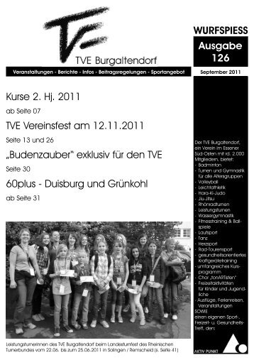 WURFSPIESS Ausgabe 126 - TVE Burgaltendorf