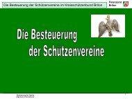 Die Besteuerung der Schützenvereine - Kreisschützenbund Brilon eV