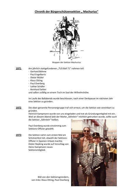 Chronik der Sektion Machurius