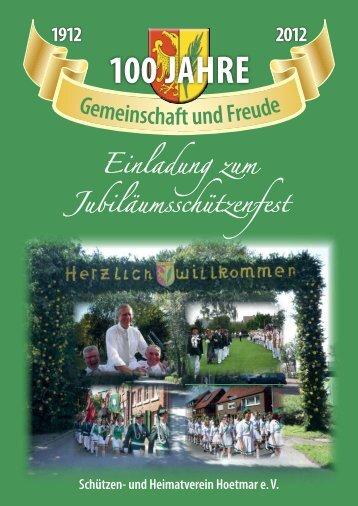Festprogramm 2012 - Schützen- und Heimatverein Hoetmar