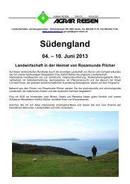 Südengland 04. – 10. Juni 2013 Landwirtschaft in ... - Agrar Reisen