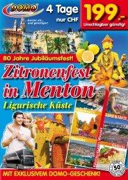 Ligurische Küste Zitronenfest in Menton