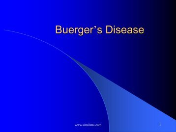Buerger's Disease - Similima