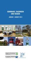 seminare, tagungen und reisen - Europäische Akademie Schleswig ...