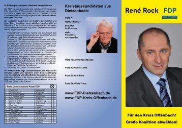 Große Koalition abwählen! René Rock - FDP Kreis-Offenbach