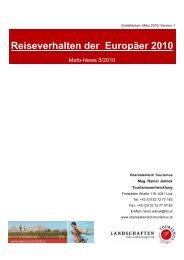 Reiseverhalten der Europäer 2010 - Oberösterreich Tourismus