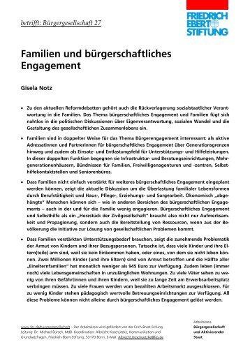 Familien und bürgerschaftliches Engagement - Bibliothek der ...
