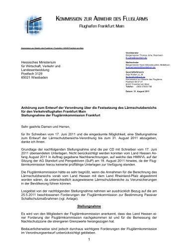 TOP 4 - Stellungnahme FLK Stand 26.8.2011 - Flughafen.Unser-Forum.de