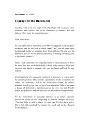 Courage for the Dream Job