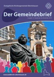 Gemeindebrief 04/2012 - Waldkirche Obertshausen