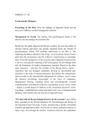 FORMAT 17 / 06 Freud and the Managers Psychology in the firm ...
