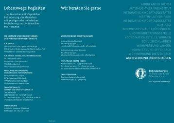 Broschüre (PDF) - Behindertenhilfe Offenbach