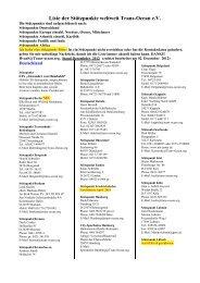 Liste der Stützpunkte weltweit Trans-Ocean e.V.