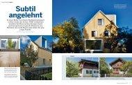 Subtil angelehnt - W2H Architekten AG