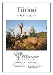 Türkei - Rothirsch - Blaser Safaris