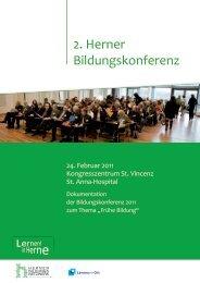 Dokumentation der 2. Herner Bildungskonferenz - Stadt Herne