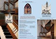 Info-Faltblatt - Projekt Orgel St. Martin