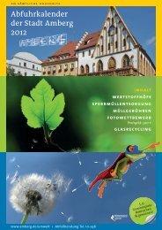Abfuhrkalender der Stadt Amberg 2012