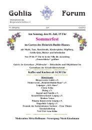 E__Gohlis-Forum_Gohlis-Forum 20 - Bürgerverein Gohlis eV
