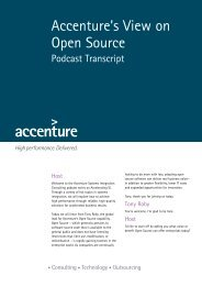 Accenture's View on Open Source