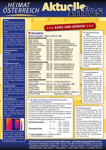 aktuelle Projekte - Heimat Österreich gemeinnützige Wohnungs