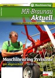 MR Preisliste - Maschinenring
