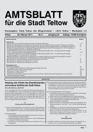 AMTSBLATT für die Stadt Teltow