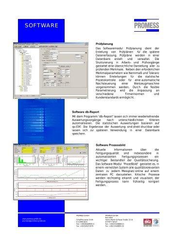 "Datenblatt ""SOFTWARE"" - PROMESS GmbH"