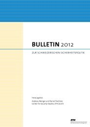 BULLETIN 2012 - Center for Security Studies (CSS) - ETH Zürich