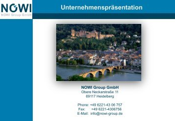 Unser Motto NOWI Group GmbH