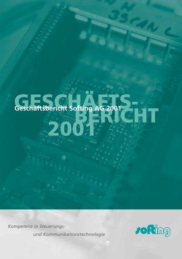 GESCHÄFTS- BERICHT 2001 - Softing