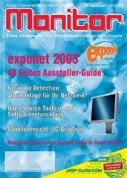 Die komplette MONITOR-Ausgabe 2/2003 können Sie